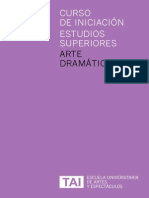 Curso de Iniciación Escénicas en Arte Dramático, Escuela TAI