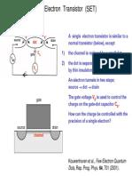 Single Electron Transistor (SET)-16p
