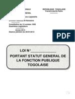 Statut g n Ral de La Fonction Publique Togolaise