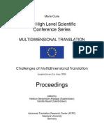 Challenges of Multidimensional Translation - Saarbrücken 2-6 May 2005 - Proceedings