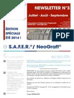 FR - Newsletter N°3 Juillet - Août - September  2014