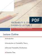 Probability and Statstical Inference 2