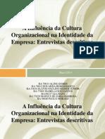 Apresentação Cultura Organizacional