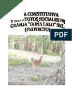 Proyecto de Acta Constitutiva de Lalavanderia y Tintoreria Aray c.a.