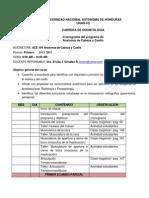 Cronograma de Anatomia de Cabeza y Cuello Para Estudiantes 2011