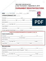 The Rebirth Tournament Registration