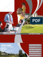 Roehampton University Teacher Education Prospectus 2009/10