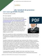 ConJur - Limite Penal_ País Ignora Direito à Duração Razoável Do Processo