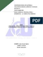1. Derecho Procesal Penal i . Jaime Sacrab 27-06-2014.