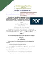 Lei 10.180-01 Controle Finançeiro Do Executivo