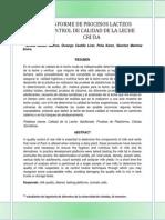 Informe de Procesos Lacteos Control de Calidad de La Leche Cruda Ing