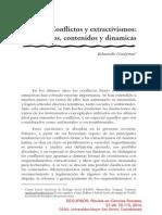 Conflictos y extractivismos:conceptos, contenidos y dinamicas - Eduardo Gudynas