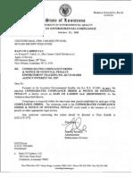 Rain Carbon CII Complaince Order Oct 29 2009 43965964