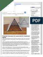 Piramida Generator de Curent Electric Perpetuum Mobile