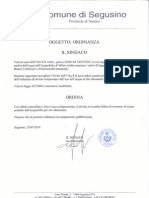 Documento -Ordinanza Divieto Temporaneo All Uso Di Acqua Potabile a Milies