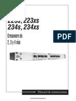 Dbx223s-234xs Owners Manual-Spanish Original