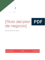 Plantilla Plan Negocio