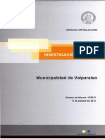 Informe Investigación Especial 16-13 Municipalidad de Valparaíso Concesión de Estacionamientos - Octubre 2013