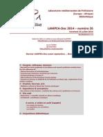 LAMPEA-Doc 2014 – numéro 26 / Vendredi 25 juillet 2014
