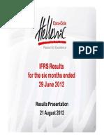 CC Hellenic Q2 2012 Presentation