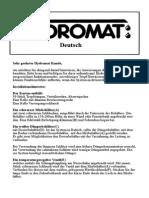 Hydromat_bedienungsanleitung