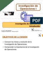 T1.1 IO I - UPN - Investigacion de Operaciones - Introducción