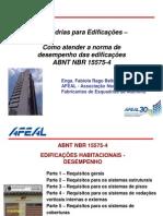 Esquadrias NBR 15575-4 AFEAL Enga Fabiola Beltrame
