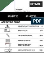 Hitachi Plasmatv 32 42htd20v2 Manual