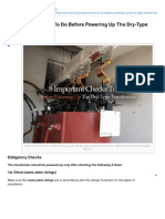 8 Important Checks to Do Before Powering Up the DryType Transformer