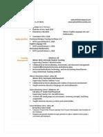 whitfield teaching resume