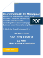 w91rus14t0286 Gao Level Protest Against Fedbid Discrimination of Veteran Owned Small Business
