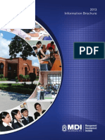 MDI Inforamation Brochure 2013