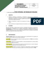Plan de Gestion Integral de Residuos Solidos PMIRS