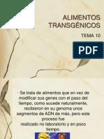 Tema 10 Alimentos Transgxnicos