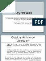 Ley 19.499 Saneamiento Vicios Nulidad