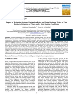 Impact of Irrigation Systems, Fertigation Rates and Using Drainage Water of Fish Farms in Irrigation of Potato under Arid Regions Conditions
