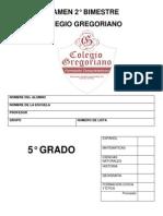 Examen 2 Bimestre 5 Grado