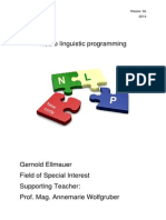 Neuro Linguistic Programming - Spezialgebiet