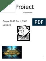 Proiect Baze de Date