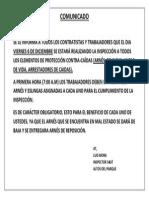 Comunicado Inspeccion Epcc