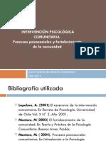 Intervencion Con Fortalecimiento y Procesos Psicosociales