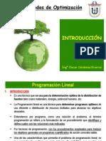 A. Programacion Lineal