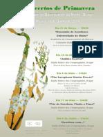 Cartaz Festival de Primavera Saxofone UM