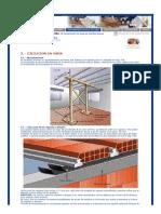 Construcción de losas de ladrillos huecos-Ejecución Obra