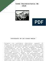 La Reforma Universitaria de 1918