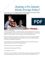Is India Adopting a Pro Islamic and Anti Hindu Foreign Policy