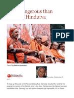 More Dangerous Than Shariah Hindutva