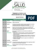 2014 Salud Agenda Preliminar