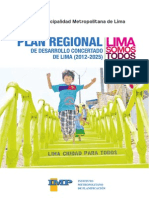 MML - Plan Regional de Desarrollo Concertado de Lima (2012-2025).