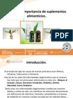 Presentacion Importancia de Los Suplementos Alimenticios Nanush Nuevo Multinivel